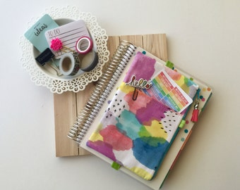 Journal accessories bag - pencil case - planner accessories band - planner pouch - life planner case - monthly planner - watercolor