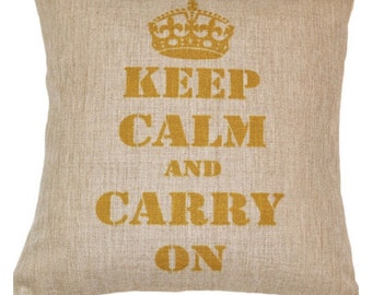 Keep Calm and Carry On Pillow Cover