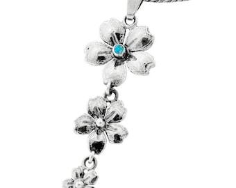 Silver Pendant, synth Opal pendant, Gemstone pendantl, Sterling silver, handmade