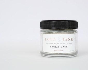 Antioxidant Clay Facial Mask/Clay Face Mask/All Natural Skincare/Sea Clay/Spirulina/Pure Essential Oils/Anti-oxidant Facial Mask/2oz