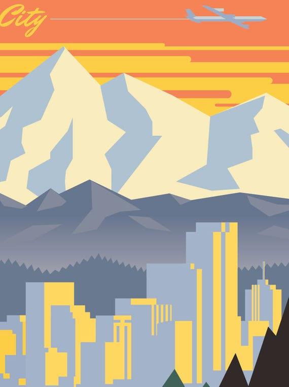 Denver Denver poster Denver wall art Denver art print