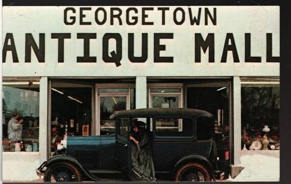 Georgetown Antique Mall + Kentucky + Vintage Souvenir Postcard