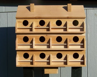Purple Martin bird house with 12  seperate compartments Western red cedar .  Free shipping