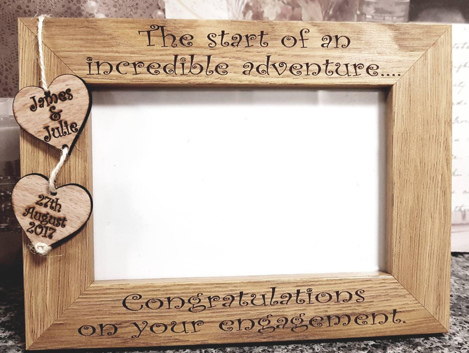 Personalised congratulations engagement gift, engagement party gift ...