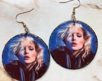 Blondie decoupage earrings