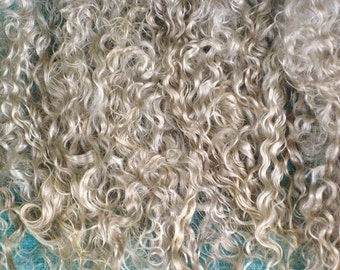Combed Angora Mohair / No Dye / Blond Doll Hair / Blythe / mane and tail / NO fragrance / Reborn / Reroot / Wig / BJD