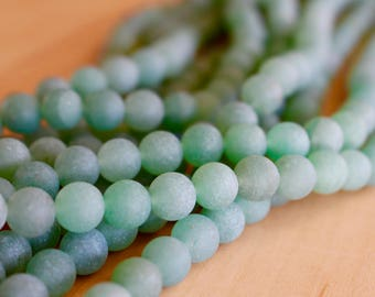 8mm Frosted Aventurine beads, full strand, natural stone beads, round, 80017