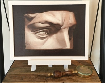 Classical Cast Study. Original Oil Painting. Framed.