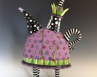 Purple Jester Teapot