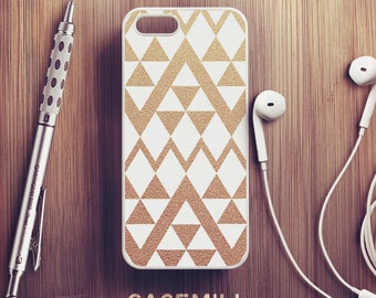Gold Chevron iPhone 6 Case White iPhone 6s Case iPhone 6 Plus Case iPhone 6s Plus Case iPhone 5s Case iPhone 5 Case iPhone SE Case