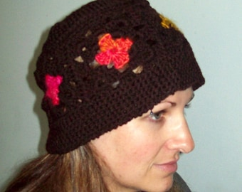 Granny Square Hat Pattern-adult crocheted hat pattern-kid crocheted hat pattern-digital crochet