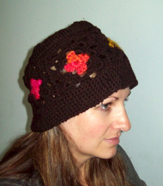 Granny Square Hat Pattern Adult Crocheted Hat Pattern Kid Crocheted