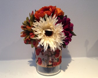 Fall Centerpiece / Autumn Harvest / Rustic Fall Floral Decor / Thanksgiving Decoration / Harvest Arrangement /  Halloween Centerpiece