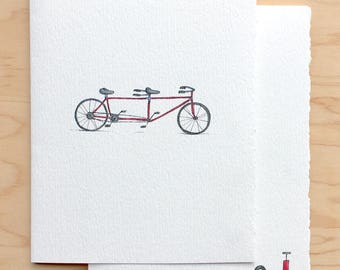 Tandem Bike Love Card