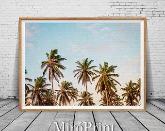 Palm Tree, Palm Tree Print, Palm, Palm Leaf, Palm Print, Palm Tree Wall Art, Palm Leaf Print, Palm Trees Photography, Tropical Photo Decor