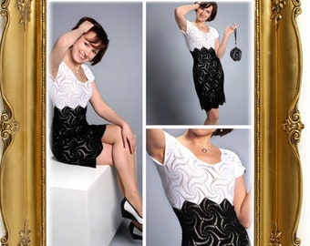 Model chic crochet dress for woman diagram and international chart in photo (not d written explanation) pdf format