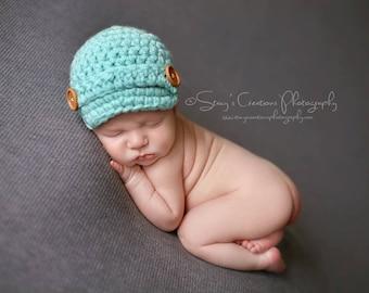 Crochet Baby Hat, Baby Boy Hat, Hat for Boys, Newborn Hat, Boy Newborn Hat, Infant Boy Hat, Infant Hat, Baby Beanie, Boy Newsboy Hat, Blue