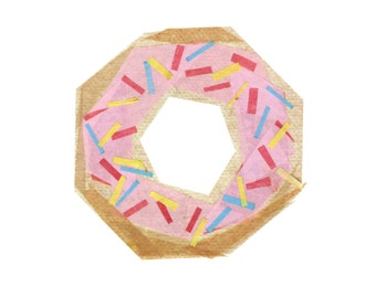 Sprinkle Donut - Donut Art Print, Donut Decor, Food Art Print