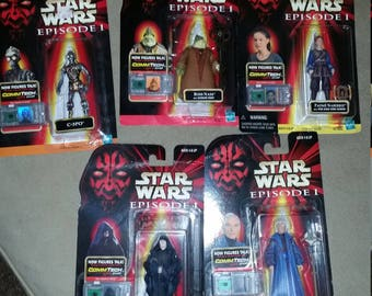 Vintage Star Wars Figurines 1998 lot of 5