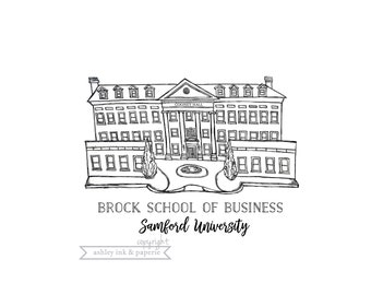 Samford Brock School of Business - Print, Notecard, or Notecard Set