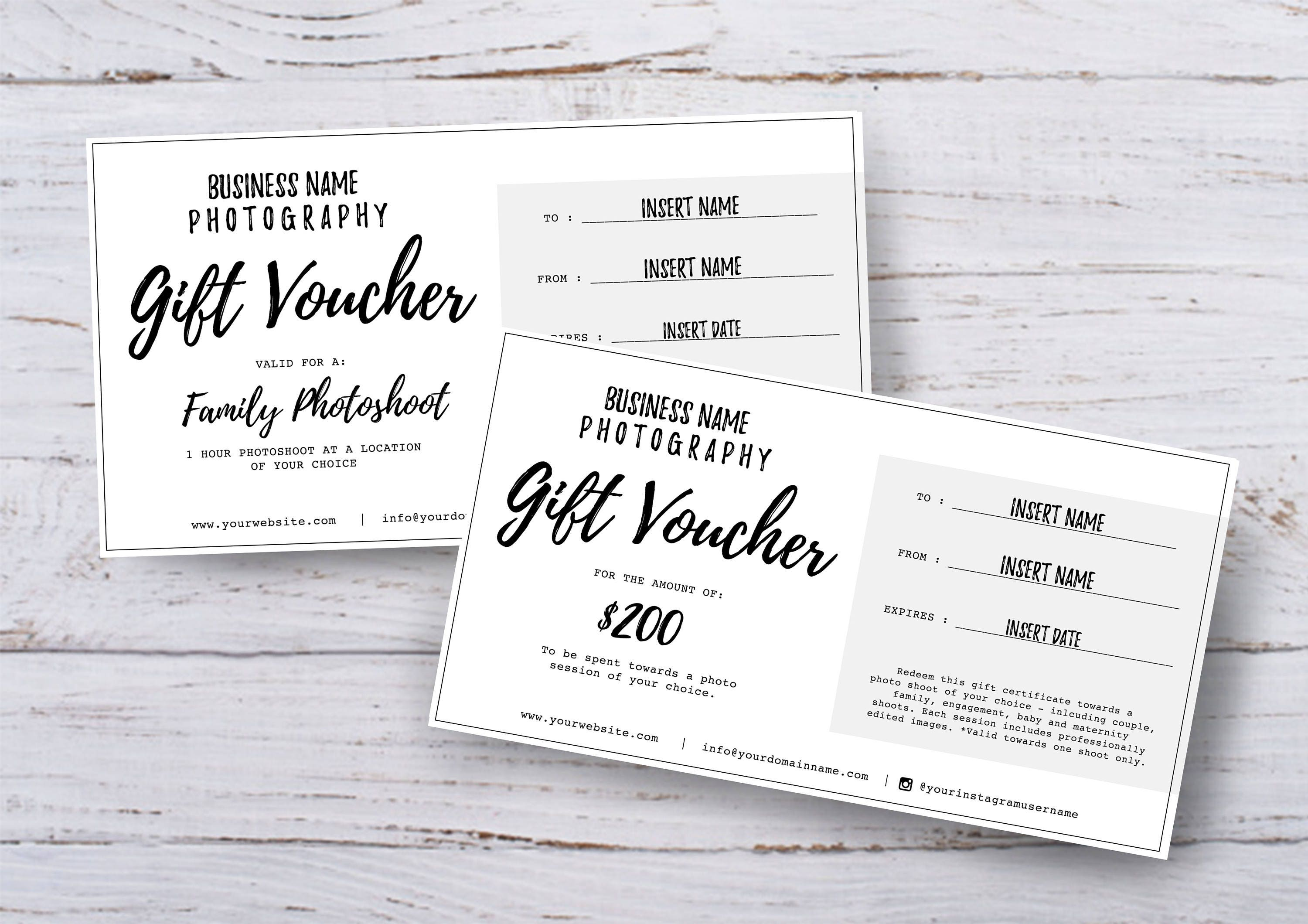 Photography gift voucher certificate template psd for zoom alramifo Images