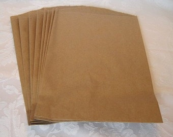 100 Kraft Paper Bags, Brown Paper Bags, Gift Bags, Candy Bags, Large Paper Bags, Retail Bags, Merchandise Bags 8.5x11