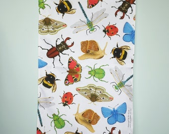 British Insect Tea Towel