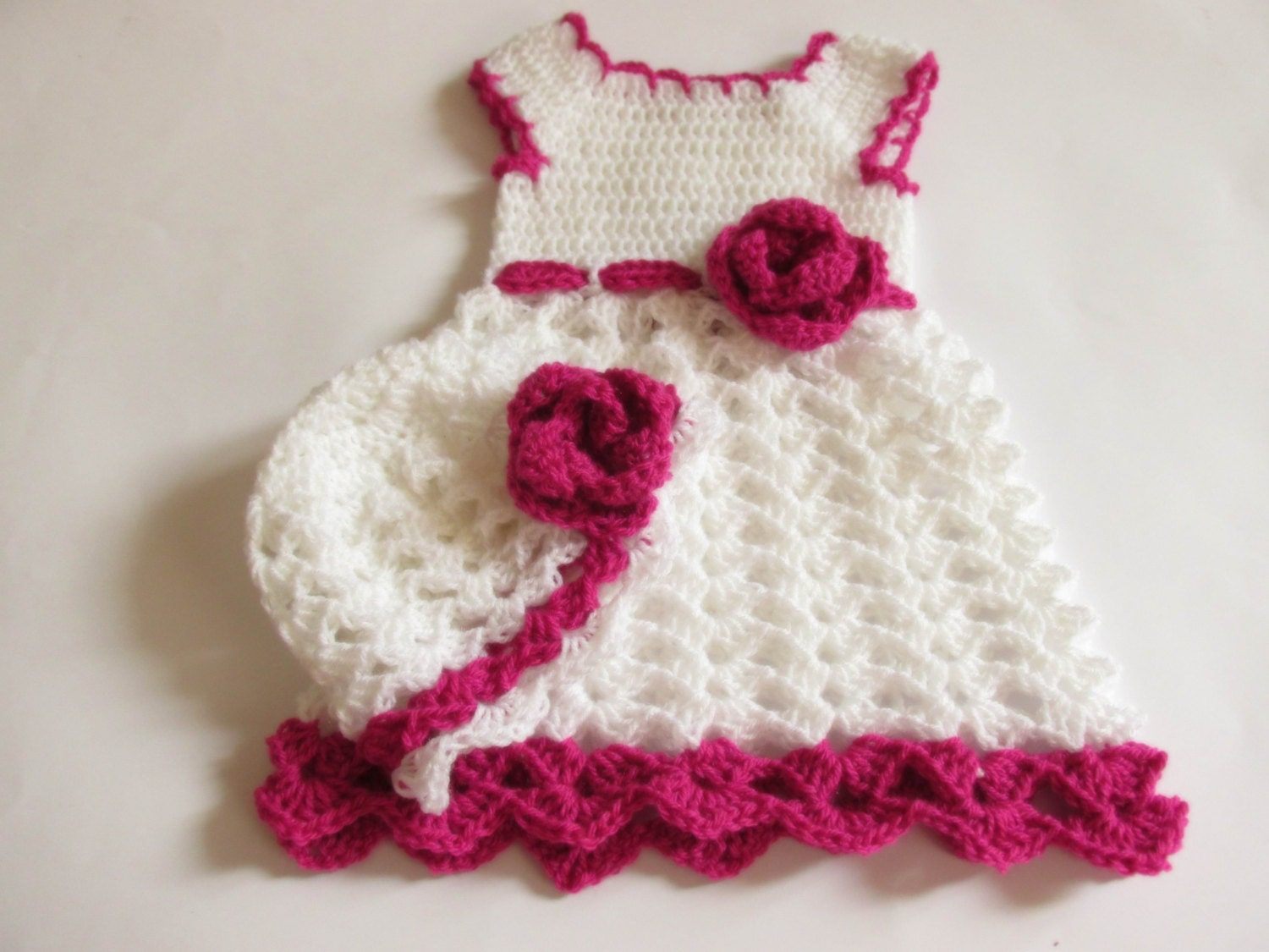 Newborn Girl Coming Home Outfit Baby Girl Dress Crochet Baby