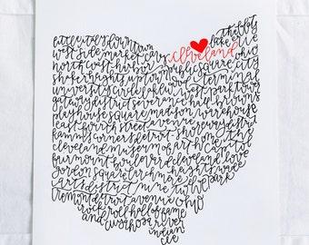 Cleveland Illustration Print