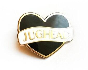 Jughead heart enamel pin |  Archie Riverdale  comics inspired fanart merch | South Side Serpents