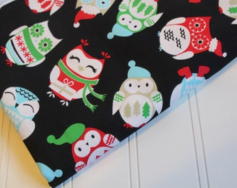 Christmas Owls Fabric Brother Sister Design Studio