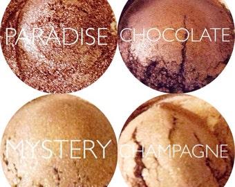 Autumn Eyeshadow Makeup Set • 4 Piece Mineral Eyeshadow Set • Mineral Makeup Eyeshadow Set