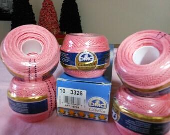 DMC Cebelia Rose colored crochet thread