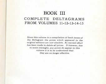 The Deltagram  Book 3; a reprint of the Deltagram magazine Volumes 11 through 15: 1941 to 1945
