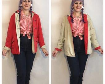 Vintage 1940's Reversible Cotton Jacket