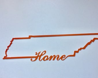 Tennessee Home state sign, Custom made metal sign, College, Dorm Room, home decor, Plasma Cut