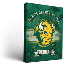North Dakota State NDSU Bison Canvas Wall Art Designs