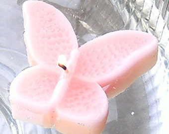 8 Light Pink Butterfly Floating Candles wedding receptions table centerpiece and decor