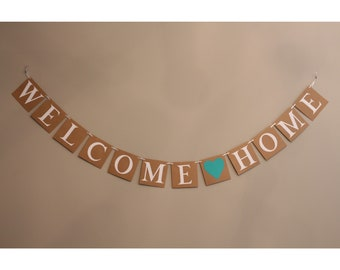 Welcome Home Banner / Welcome Home Decorations / Personalized Welcome Home  Banner / Welcome Home Decor