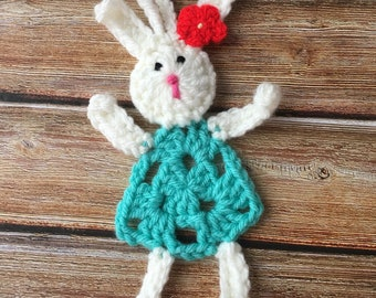 Bunny rabbit  tree ornament / hanging / decoration , hand made crochet