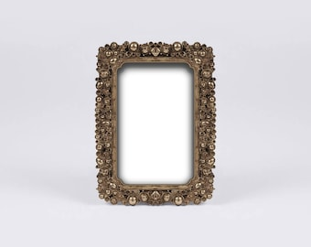 Ornate Picture Frame, Baptism Frame, Gold Wedding Photo Frame, Neoclassical Style, Vintage French Decor, Luxurious Hotel, Parisian Boudoir