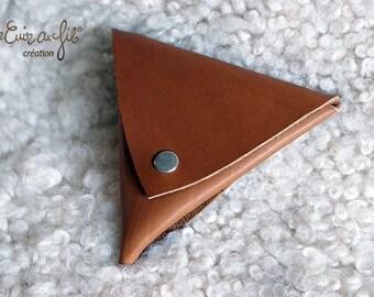 Triangle - Barenia 2 Cognac calfskin wallet