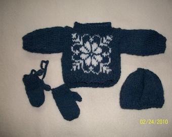 Snowflake Sweater Set