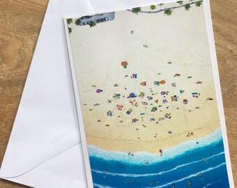 Original Acrylic Print featured on a Greeting Card - Beachdays Down Under - Australian Summer