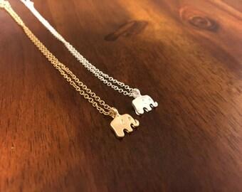Elephant Necklace - Elephant Charm - Elephant Pendant - Elephant Jewelry - Gold Elephant Necklace - Silver Elephant Necklace - Bama Necklace