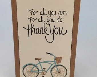 Bicycle Thank You Card