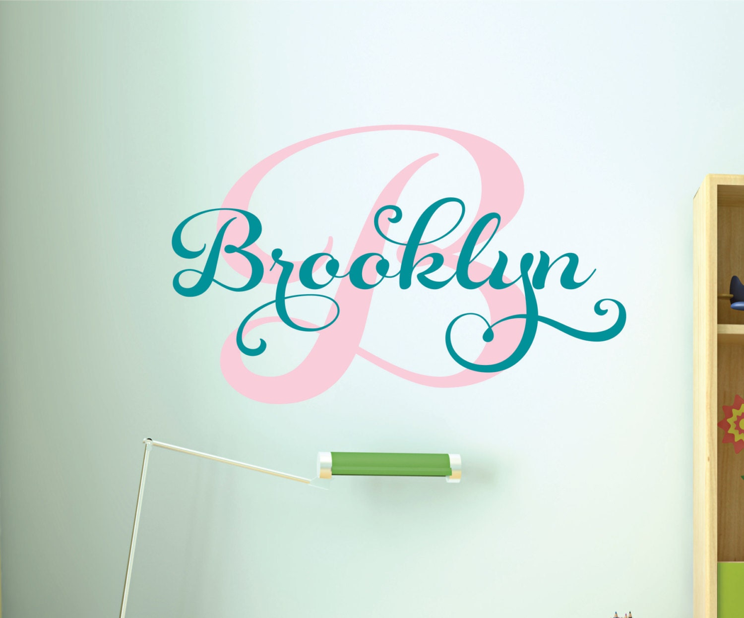 Girls Custom Name Wall Decal Custom Monogram Decal Girls - Personalized custom vinyl wall decals for nurserypersonalized vinyl etsy