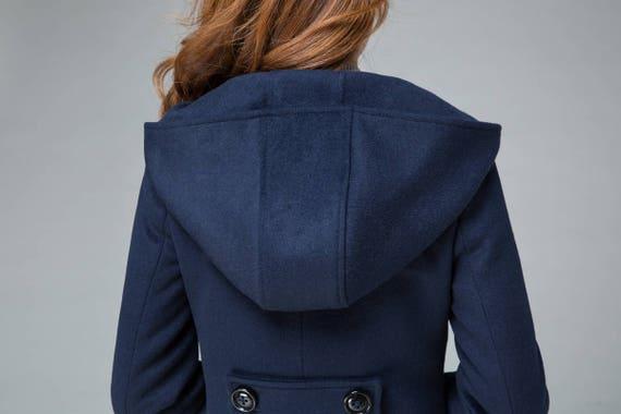asymmetrical coat coat jacket coat 1842 coat coat coat winter handmade warm navy hooded minimalist wool coat irregular outerwear gw86HH