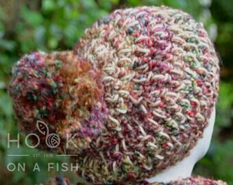 Sunset Pom Pom Slouchy hat
