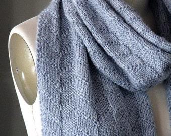 knitting pattern, knit pattern, scarf pattern, knit scarf pattern, textured scarf, Whistler Peaks scarf, diy pattern, instant download pdf